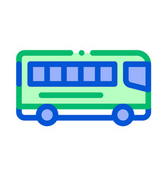 Public transport inter-city bus sign icon vector