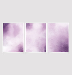 Purple watercolor wet wash splash 5x7 invitation vector