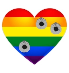 Rainbow flag gay LGBT flag heart Rainbow heart vector image