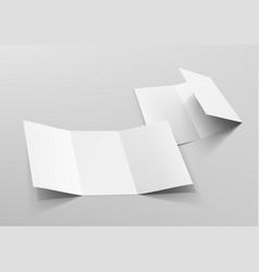 Realistic tri-fold a5 or a4 brochure mockup vector