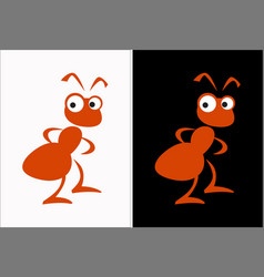 red ant termite graphic image a friendly insect vector image