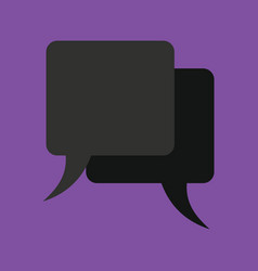 Retro converse speech bubble icon vector