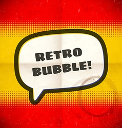 Retro speech bubble on halftone card vector image