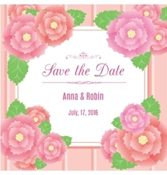 Save the date floral wedding invitation with briar vector image