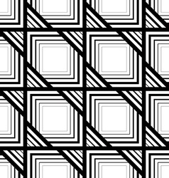 Seamless black and white pattern simple stripes vector image