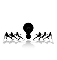 silhouette business and ideas concept business vector image