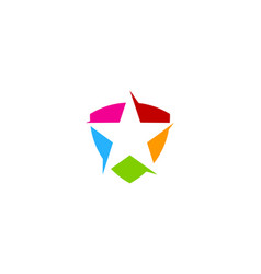star shield logo icon design vector image