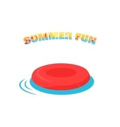 Summer fun concept in flat design vector