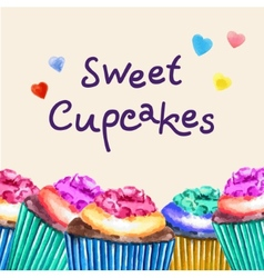 Sweet cupcakes vector image