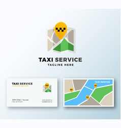 taxi service point abstract app icon or vector image