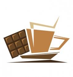 Tea or coffee symbol vector