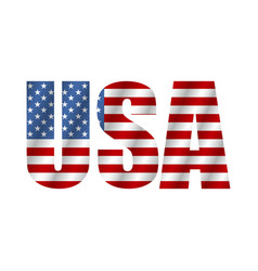 text usa in style flag flag american isolated on vector image