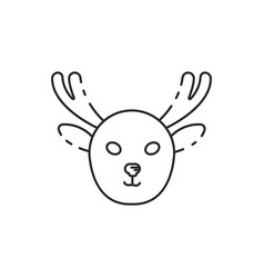 Thin line moose icon vector