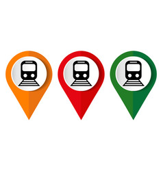 train icon flat design internet button web vector image