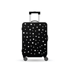 travel bag with item on it vector image