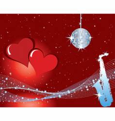 valentines music background vector image