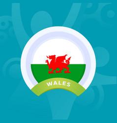 Wales flag european football 2020 tournament vector