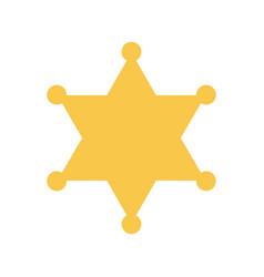 yellow sheriff star vector image