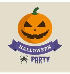 halloween party pumpkin vector image vector image
