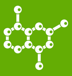 molecule icon green vector image