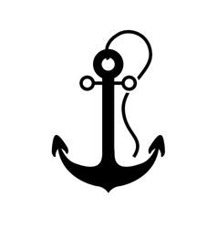 Nautical anchor icon vector