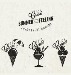 Retro vintage style Ice Cream design vector image vector image