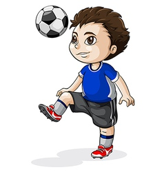 A young Asian soccer player vector image