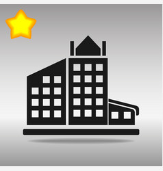 black building icon button logo symbol concept vector image