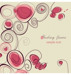 blushing flowers vector image vector image