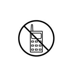 no phone line icon prohibition sign forbidden vector image vector image