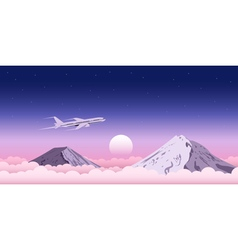 plane above clouds vector image vector image