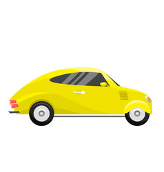 retro vintage old style yellow car vehicle vector image vector image