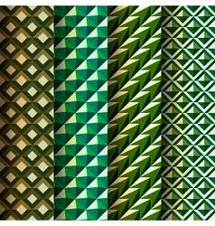 Set seamless geometrical patterns retro style vector image vector image