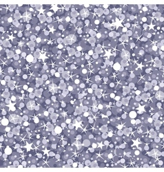 Silver sparkles seamless pattern background vector image vector image