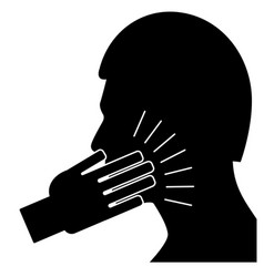 slap in the face vector image vector image