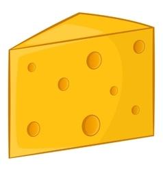 Swiss cheese icon cartoon style vector image