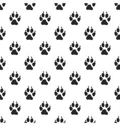 Animal paw seamless pattern vector image