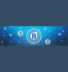 bitcoins money crypto currency concept modern web vector image vector image