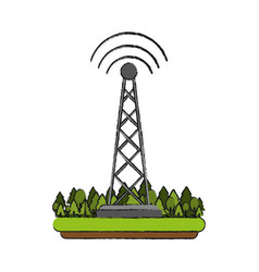 communication radio antenna vector image vector image