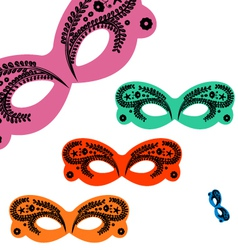 decorated venetian masks vector image vector image