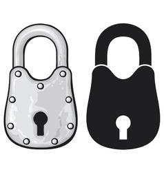 rusty padlock-old padlock vector image vector image