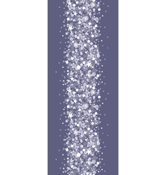 Silver sparkles vertical seamless pattern vector image vector image