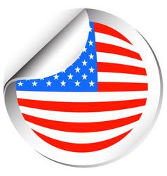 Sticker design for america flag vector