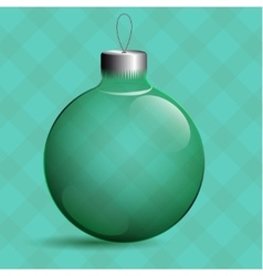 Transparent Christmas ball Glass tree Toy Green vector image