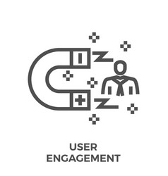 user engagement line icon vector image vector image