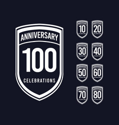 100 years anniversary celebration retro classic vector