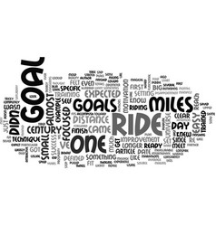 a goal for this century text word cloud concept vector image