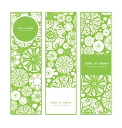 Abstract green and white circles vertical banners vector