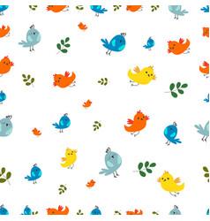 birds seamless pattern colorful bird pattern vector image