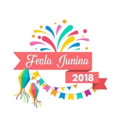 Brazilian june festival poster vector